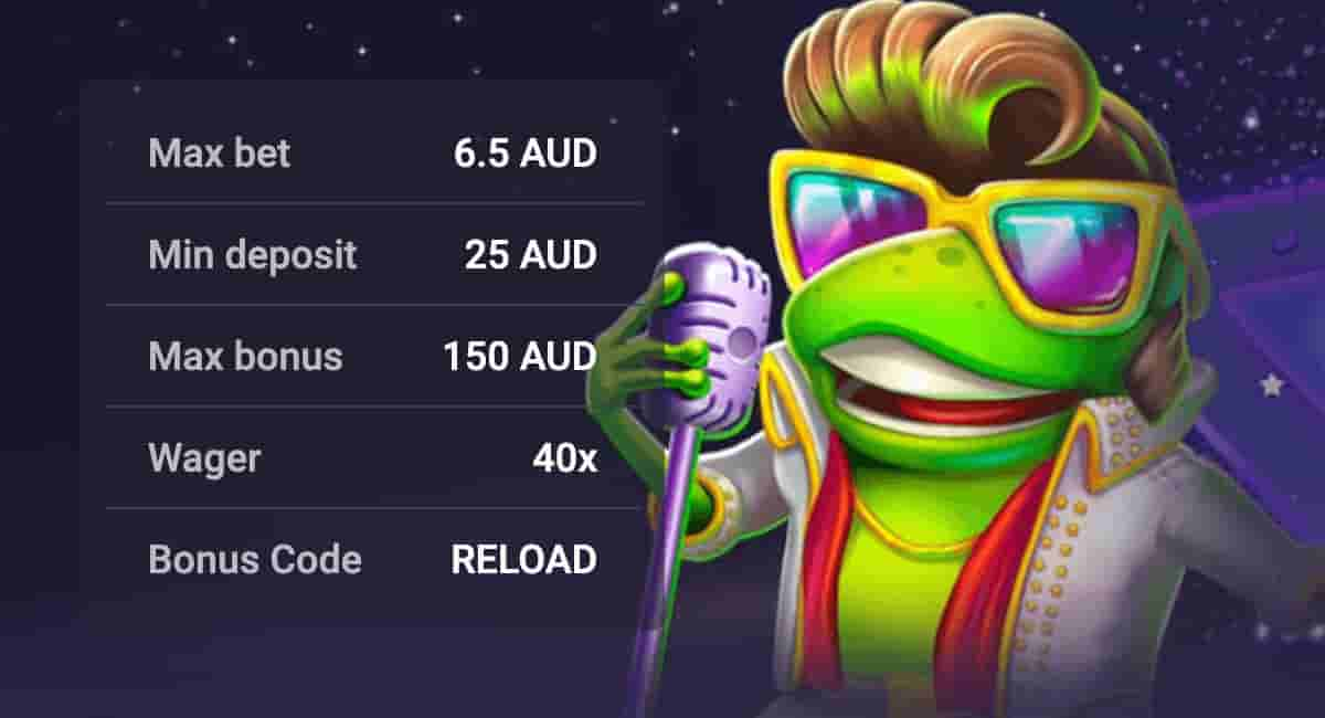 Woo Casino 1Reload Bonus